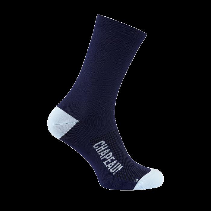 Chapeau! Chapeau!, Lightweight Performance Socks, The Marque II, Tall 16cm, Navy ( 44-47)