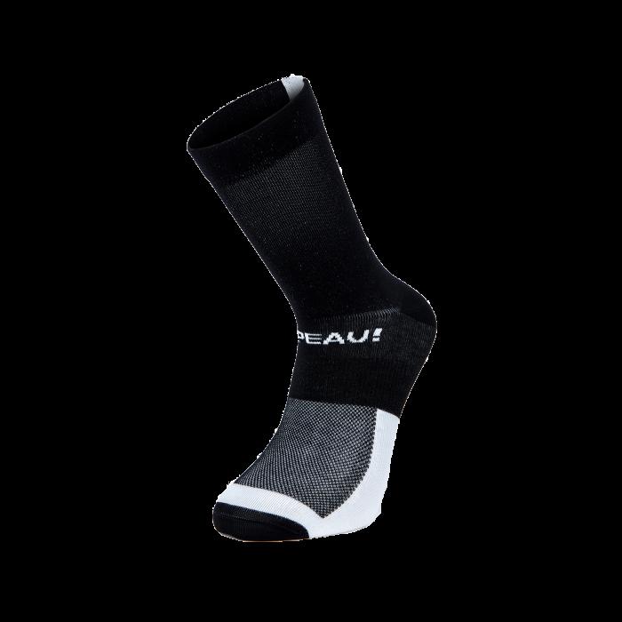 Chapeau! Chapeau!, Lightweight Performance Socks, The Marque, Tall, Black/White, 40-43