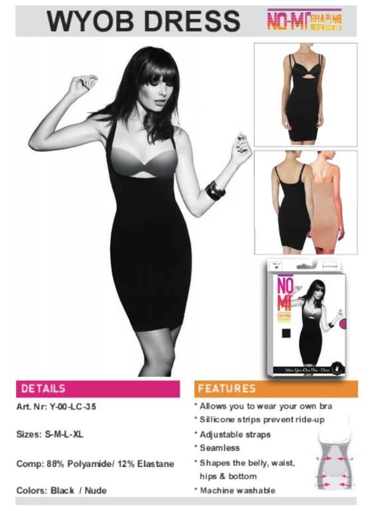 NO-MI bodywear Wear your own Bra dress
