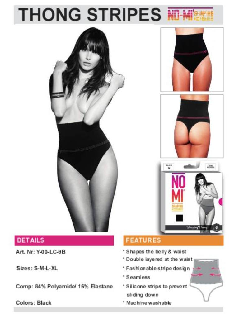 NO-MI bodywear - LADYLIKE FASHION Thong stripes