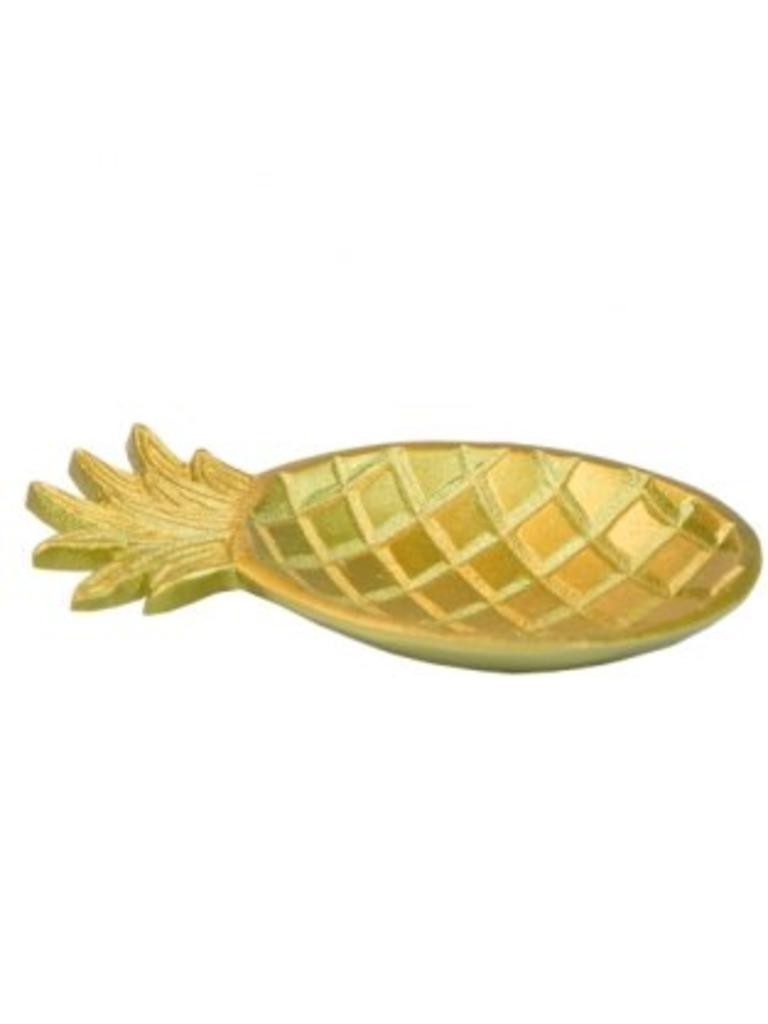 Pineapple Tray medium brass