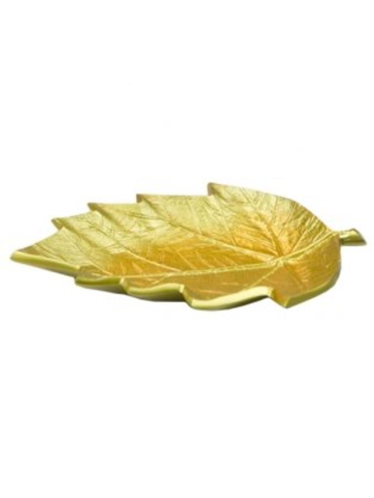 Leaf Large brass