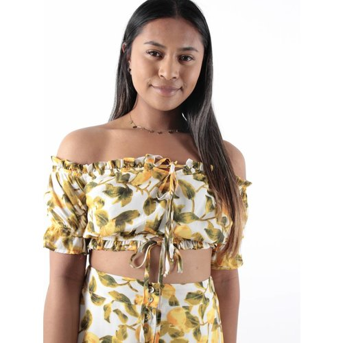 Bisou's project Off-shoulder top lemon
