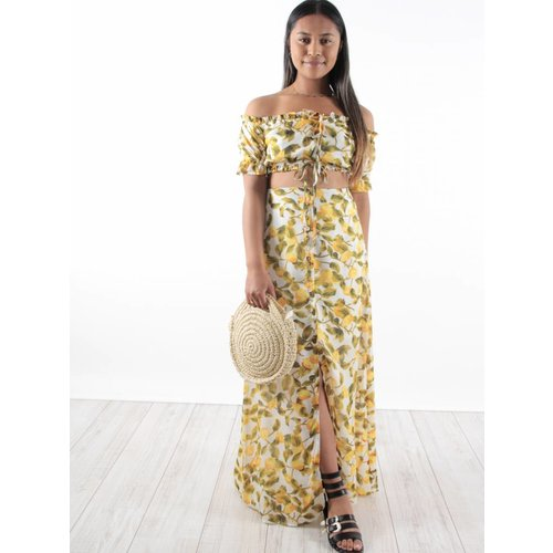 Bisou's project Long skirt lemon white