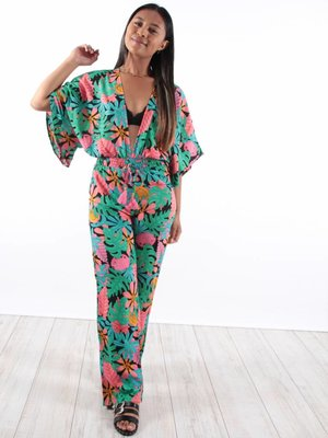 Purple Queen Sea flower jumpsuit