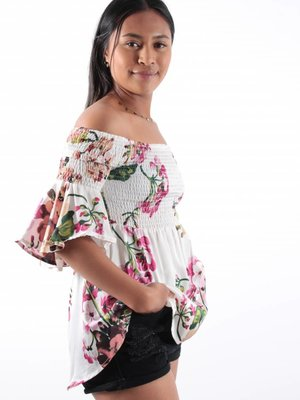 Voyelles Manilla off shoulder blouse