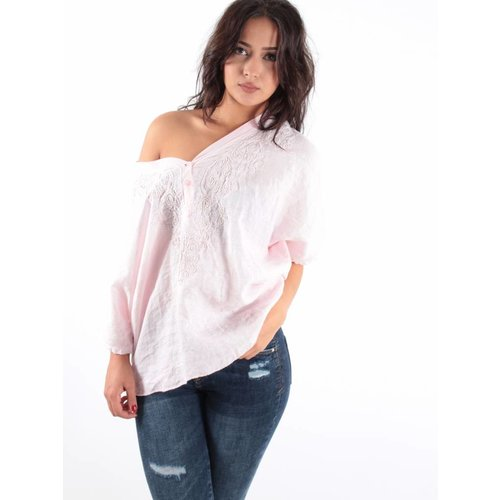 Complimento Blouse Lino pink
