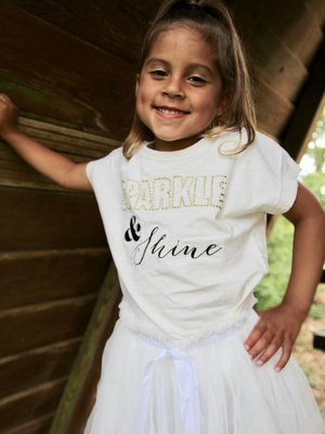 Ladylike Sparkle & Shine tee kids