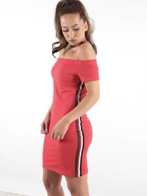 GIORGIA Dress red stripe