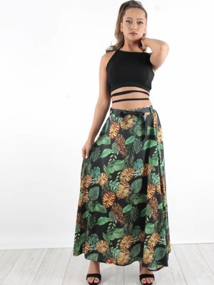 Maxi skirt palm