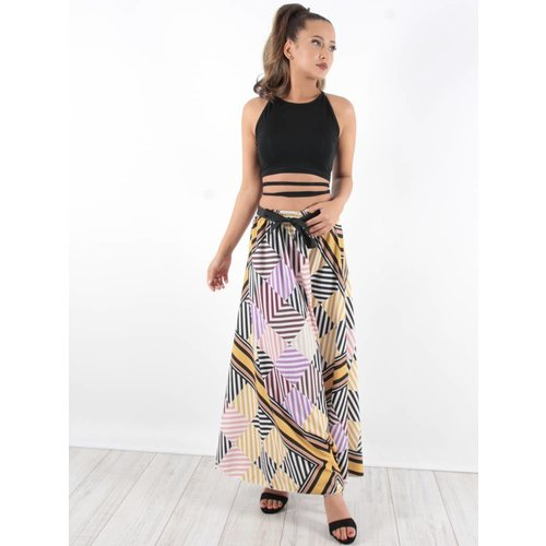 Blu Royal Maxi skirt geo