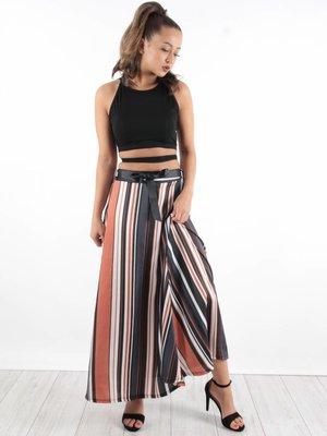 Blu Royal Maxi skirt brown stripe