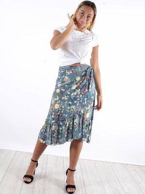 Wrap skirt flowers LB