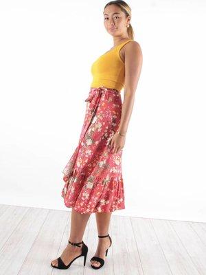 Wrap skirt flowers