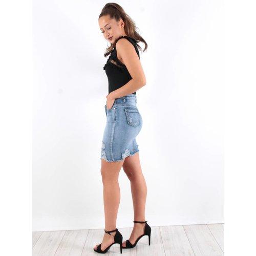 Skirt jeans blue