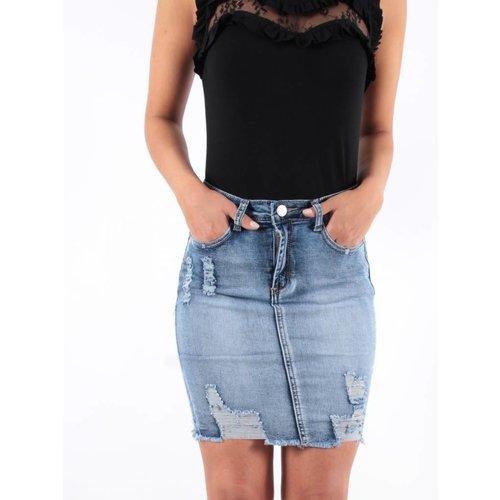 Ladylike Skirt jeans blue