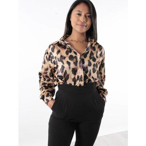 Ivivi Leopard blouse satin