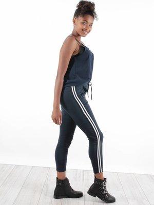 Ladylike Pants dark blue stripe