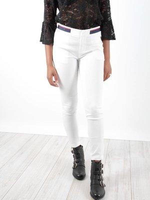 Drôle de Copine Pants white stripe belt