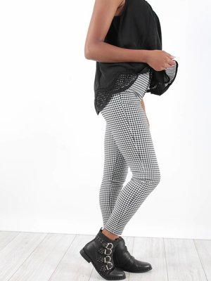 Drôle de Copine Pants black white