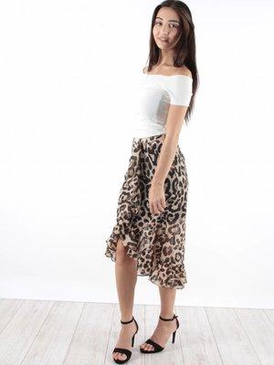 Ivivi Skirt leopard marron