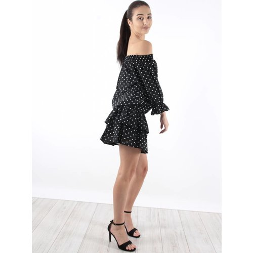 Vintage Dressing Dress stip ruffle