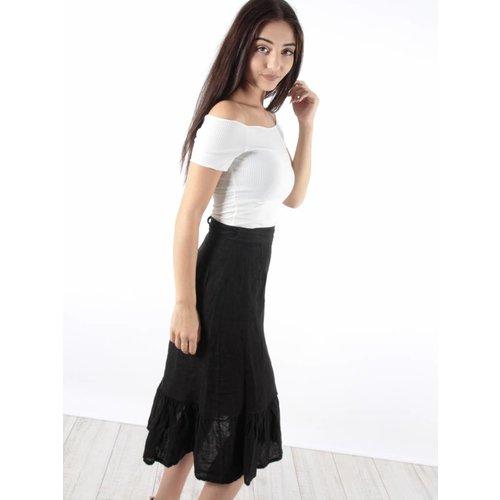 Ladylike Skirt ruffle linen