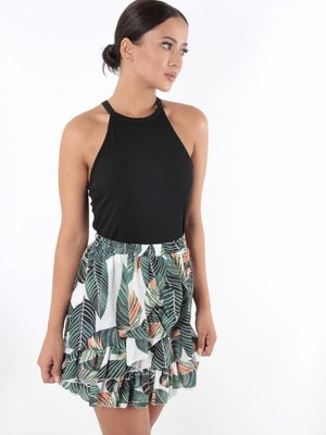 Made in Italy Skirt leaves tropical