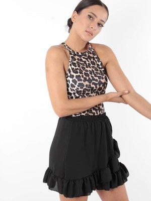 Made in Italy Skirt black ruffle