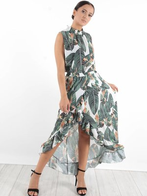 Made in Italy Skirt maxi leaves