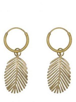 À la Earrings Palm leaf pair