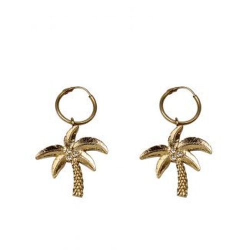 À la Earrings Palmtree diamond pair