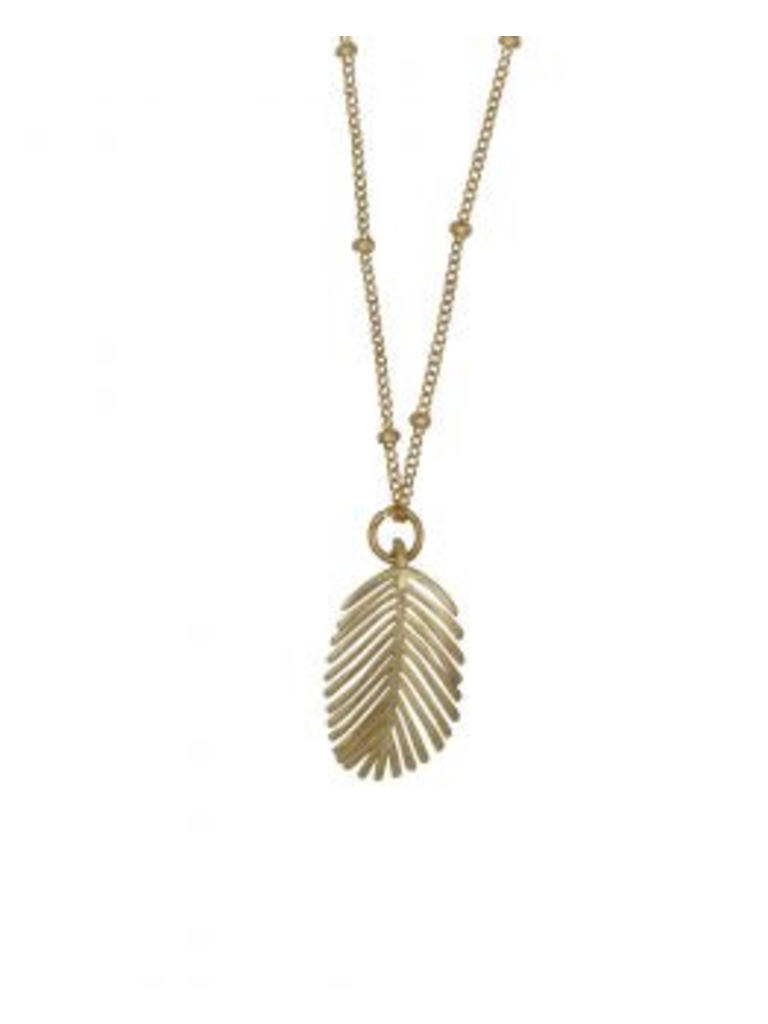 À la Palm Leaf necklace