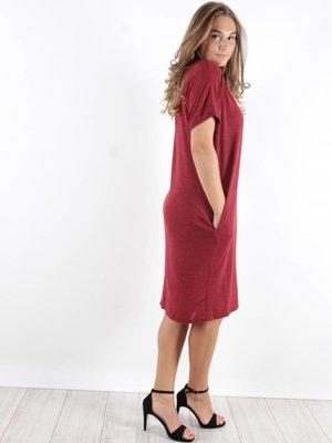 Vintage Dressing Basic t-shirt dress bordeaux