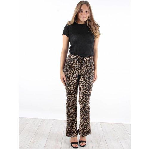 Ambika Leopard pants flared