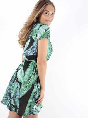 Made in Italy Short dress leaves