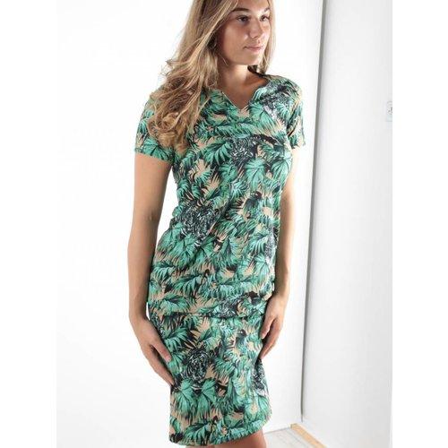 Ambika Tiger palmtree dress