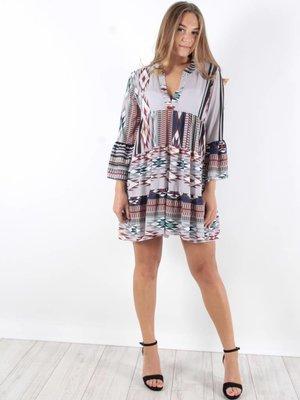 F.Fashion Sanur dress print grey