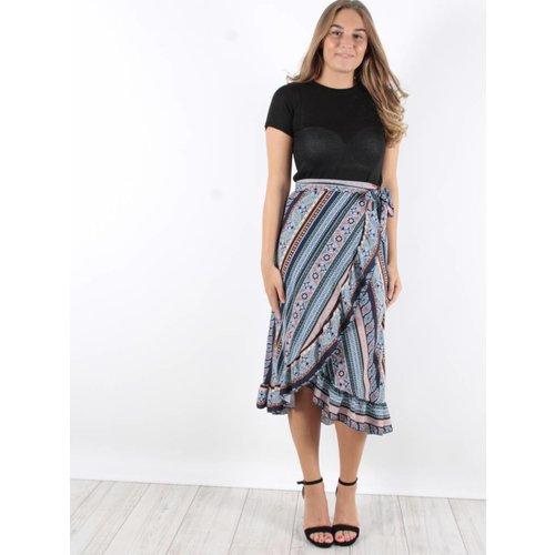 F.Fashion Wrap skirt blue