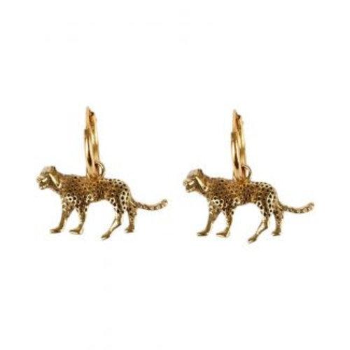 À la Earrings Leopard detailed pair