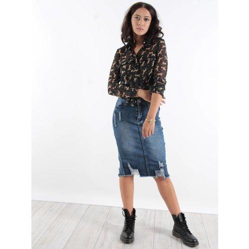 Girl Vivi Long jeans skirt