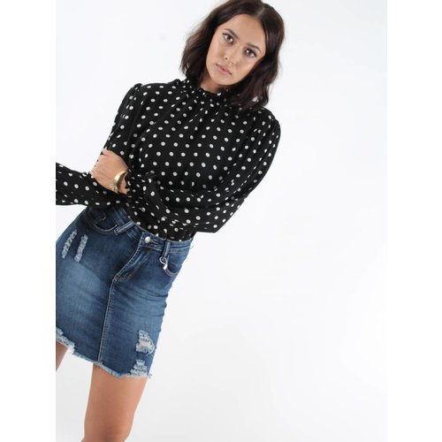 New Collection Blouse turtle dots