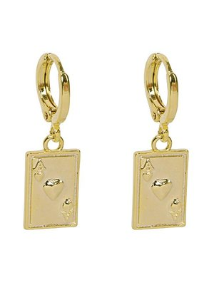 Yehwang Earrings ace of cards