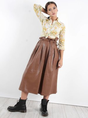 Miss Miss Faux leather skirt