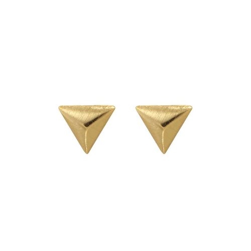 Yehwang Earrings little triangle gold