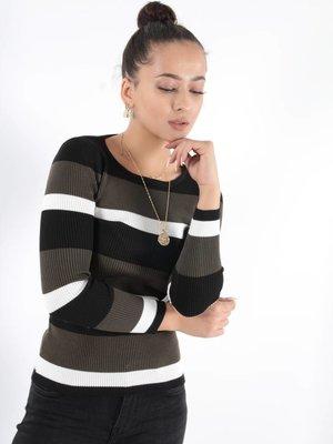 Cherry Koko Fadé stripe top
