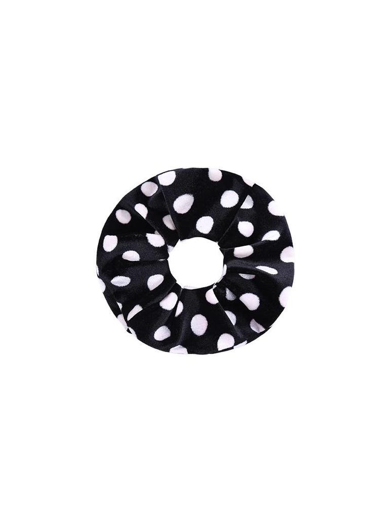 Yehwang Srunchie velvet dots