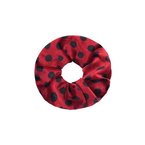 Srunchie velvet dots red