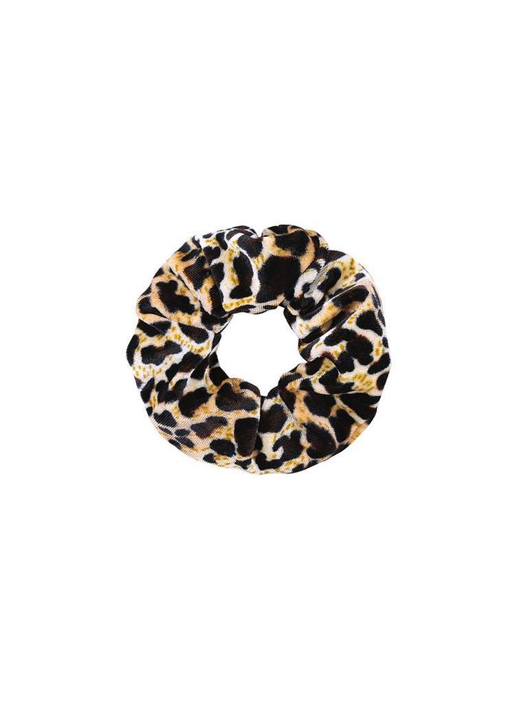 Yehwang Scrunchie sweet leopard velvet