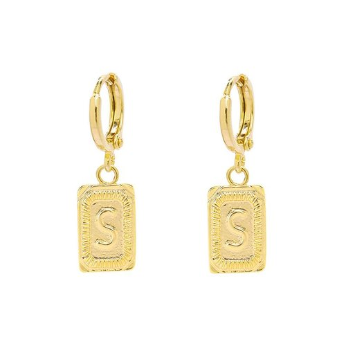 Yehwang Earrings Initial S